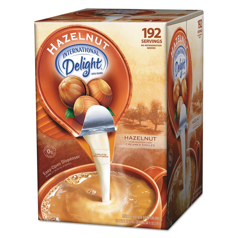 Amazon.com: International Delight 827965 Liquid Non-Dairy Coffee Creamer, Hazelnut, 0.4375 oz Cups, 192 Cups/CT: Office Products