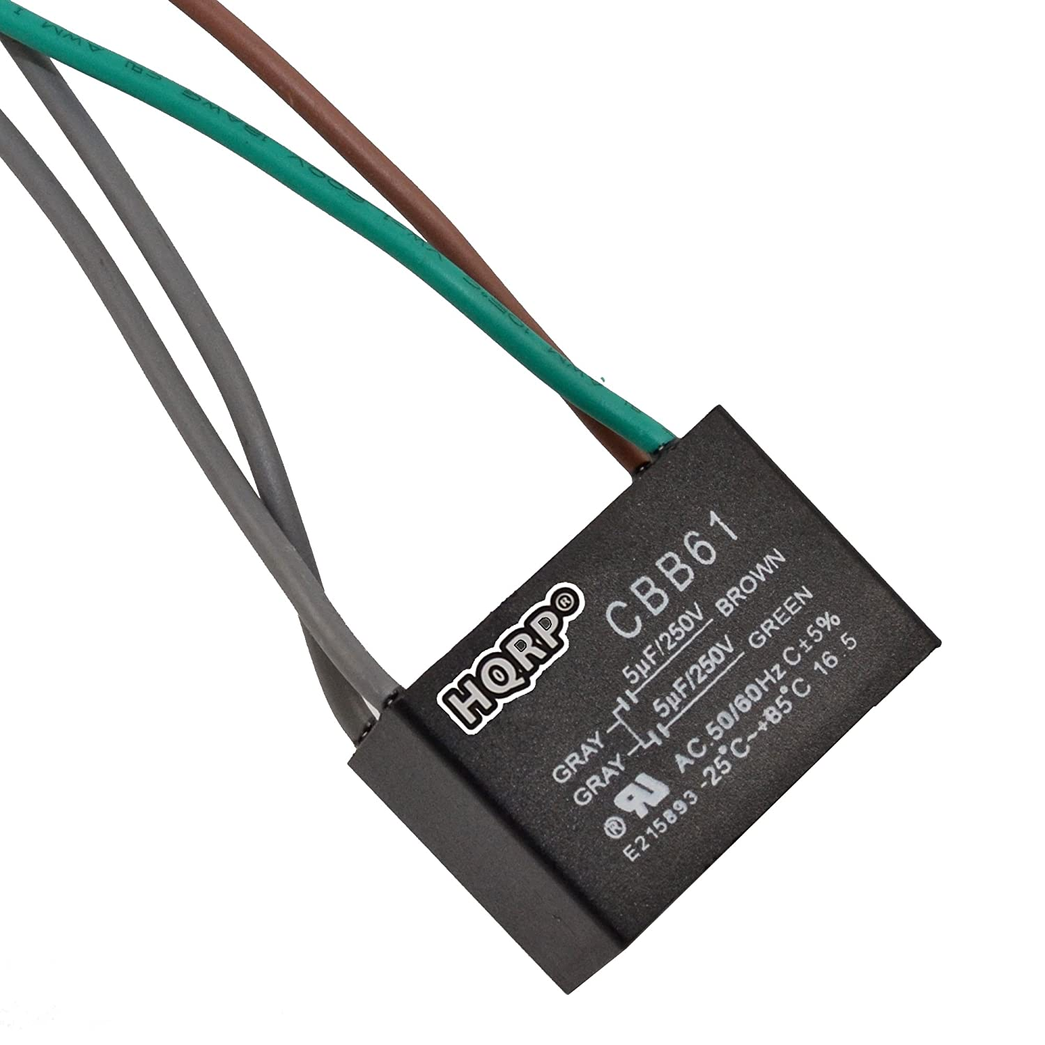 HQRP Capacitor for Harbor Breeze Ceiling Fan 4.5uf+5uf+6uf 5-Wire plus on
