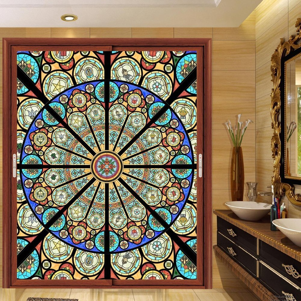 Com Ostepdecor Custom Translucent Non Adhesive Stained Glass Window S 30 W X 36 H Home Kitchen