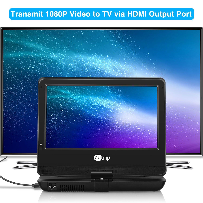 Amazon.com: CUTRIP 10.1 Inch Portable Blu-Ray DVD Player with HDMI ...