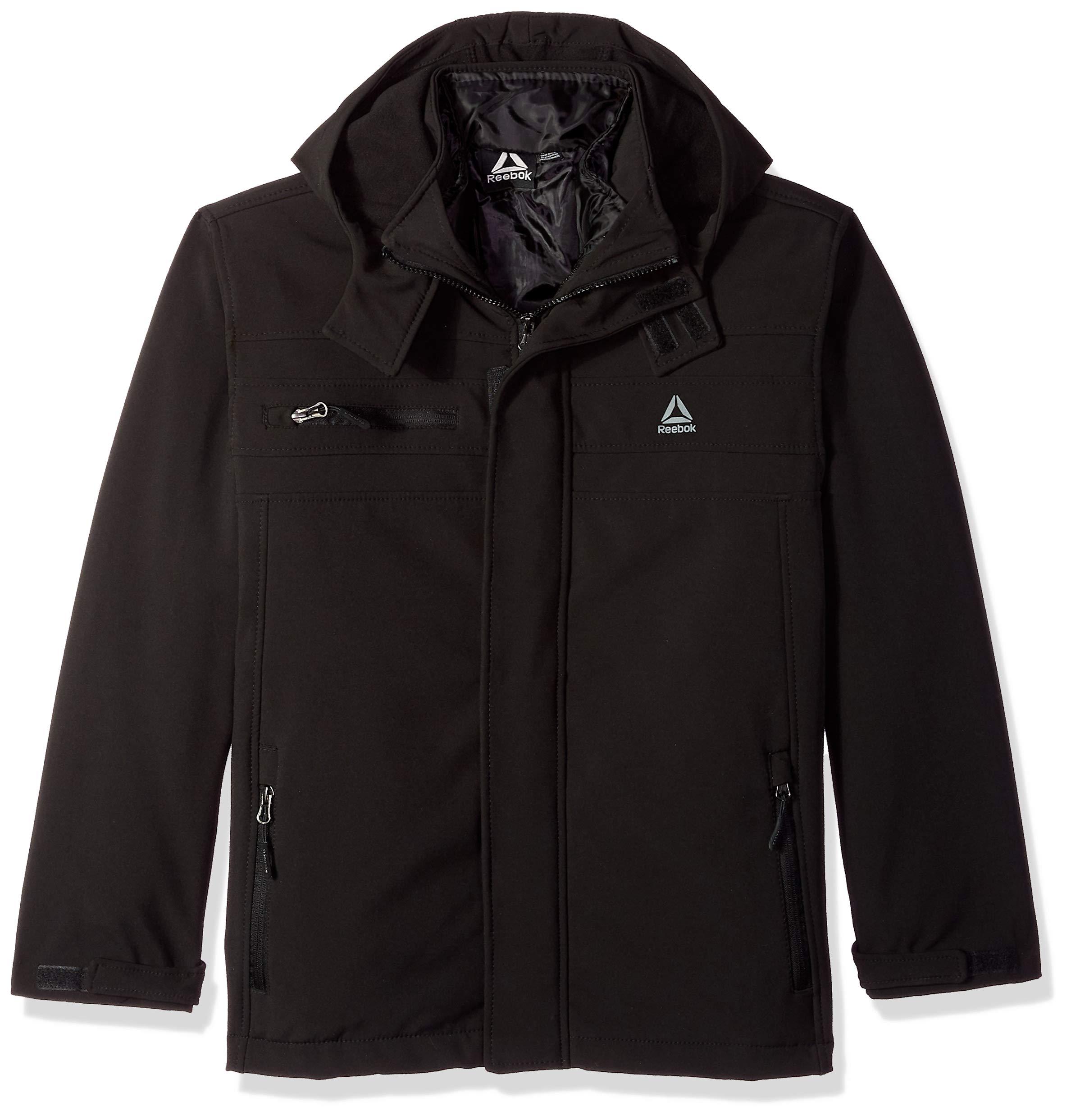 Reebok Boys Active Zipped Systems Jacket, Black 8
