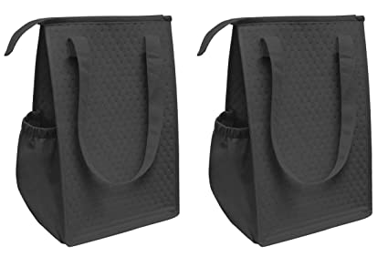 Amazon.com  ProEquip Insulated Lunch Bag Wine Cooler Tote Reusable ... dc5236f619