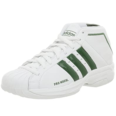 adidas Men's Pro Model 2G NBA Celtics Basketball Shoe,White/White,6.5 M