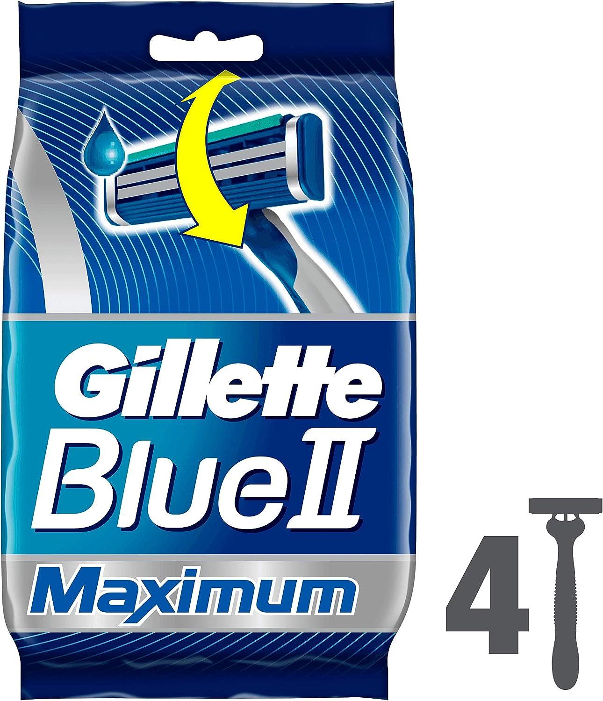 Juego de cuchillas de afeitar Gillette Sensor2 desechables para hombre (4 unidades): Amazon.es: Salud y cuidado personal