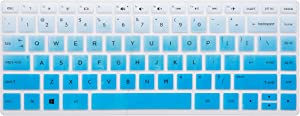 Leze - Keyboard Cover Compatible with HP Pavilion x360 2-in-1 14M-BF 14-BF050WM,14M-DW0013DX,14M-DW0023DX,14M-BW 14-BW065BR 14-DS0050NR 14-DS0060NR 14-DK1003DX Laptop - Gradual Blue