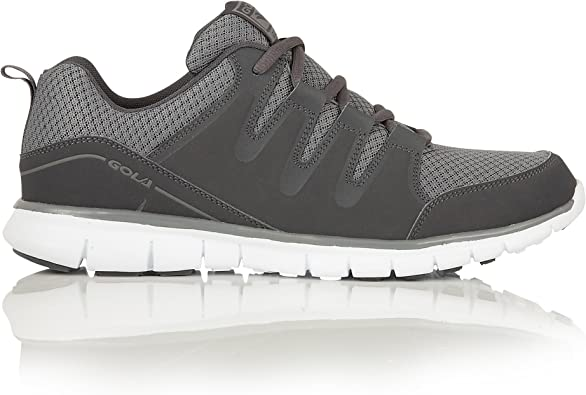 Gola - Zapatillas Deportivas Modelo Termas 2 XL Talla Grandes Hombre Caballero (48 EU/Carbón/Gris): Amazon.es: Zapatos y complementos