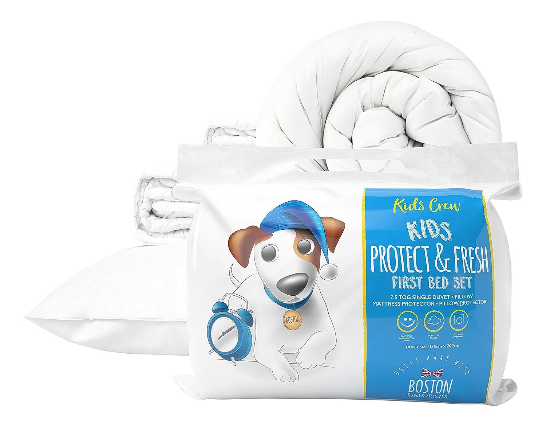 Boston duvet & Pillow Co Kids 7,5completo primera Juego de cama, color blanco 616788