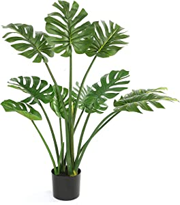 "DIIGER Faux Plants Indoor Tree,Artificial Ali Tree,29.5"" Tall,Green Plant Interior Decor,Living Room Fake Plants in Pot for Home Office Perfect Housewarming Gift"