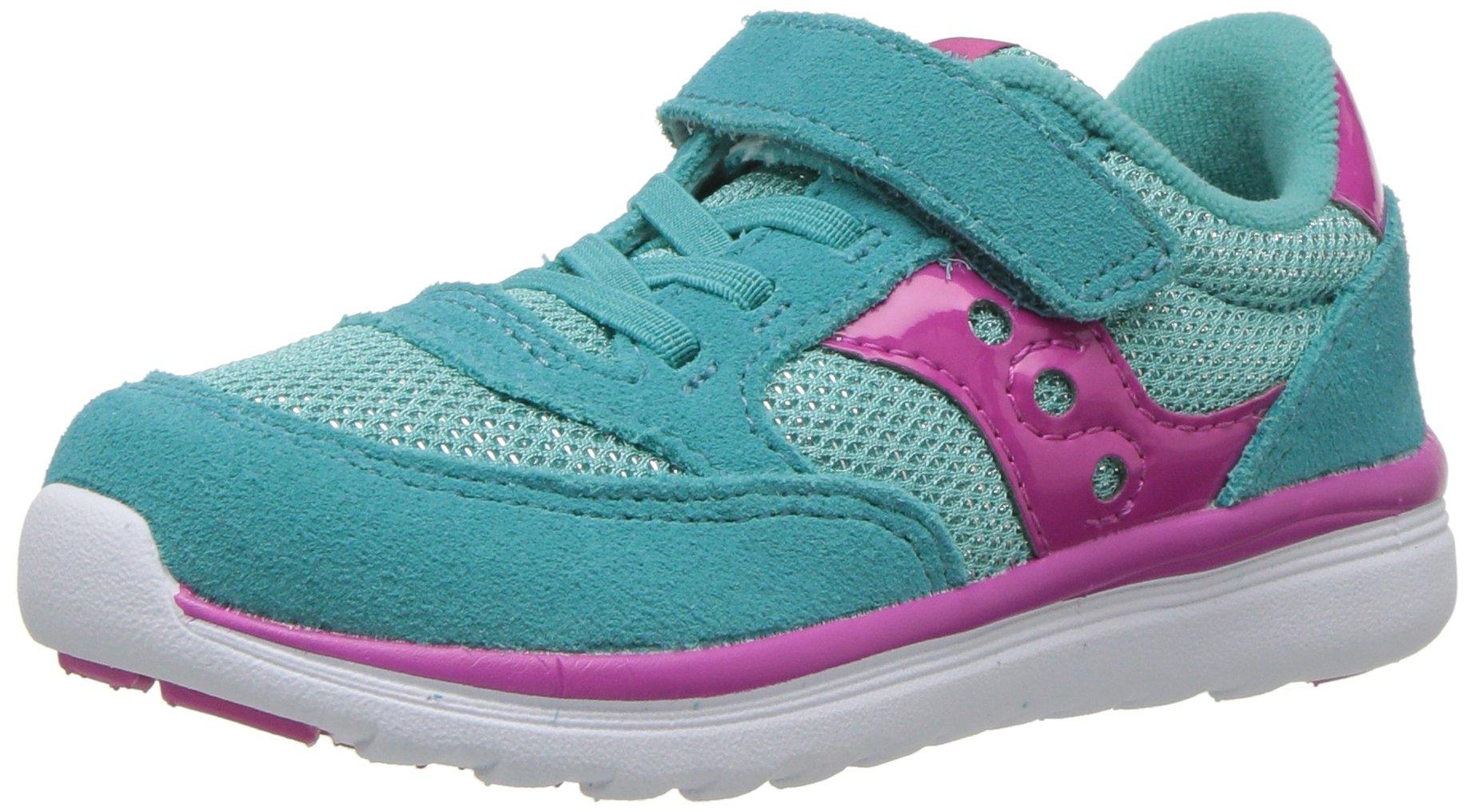 Saucony Girls' Baby Jazz Lite Sneaker, Blue, 7.5