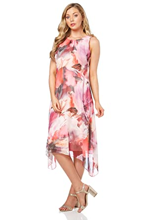 Chiffon Hanky Hem Dress
