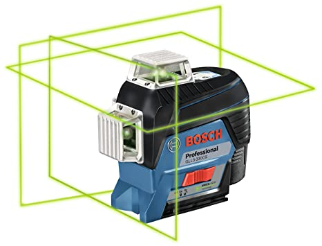 Bosch GLL3-330CG 360° Connected Green-Beam Three-Plane Leveling and Alignment-Line Laser (Bare-Tool)