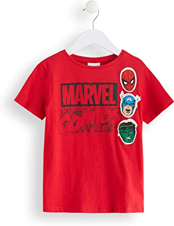 Marca Amazon - RED WAGON Camiseta Vengadores Marvel Niños, Multicolor (Red / Grey), 140, Label:10 Years: Amazon.es: Ropa y accesorios