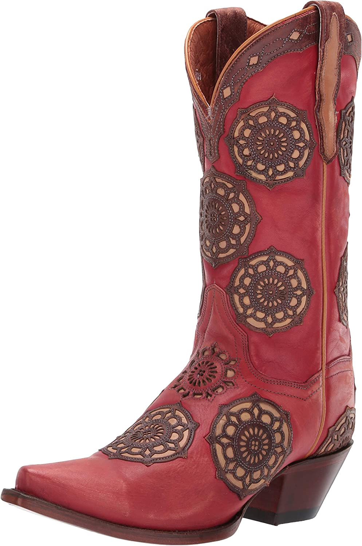 Dan Post Women's Circus Flower Leather Boot