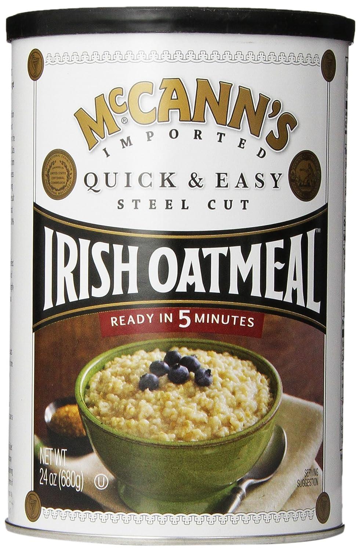 McCann's Steel Cut Irish Oatmeal, Quick & Easy, 24 oz (Pack of 6)