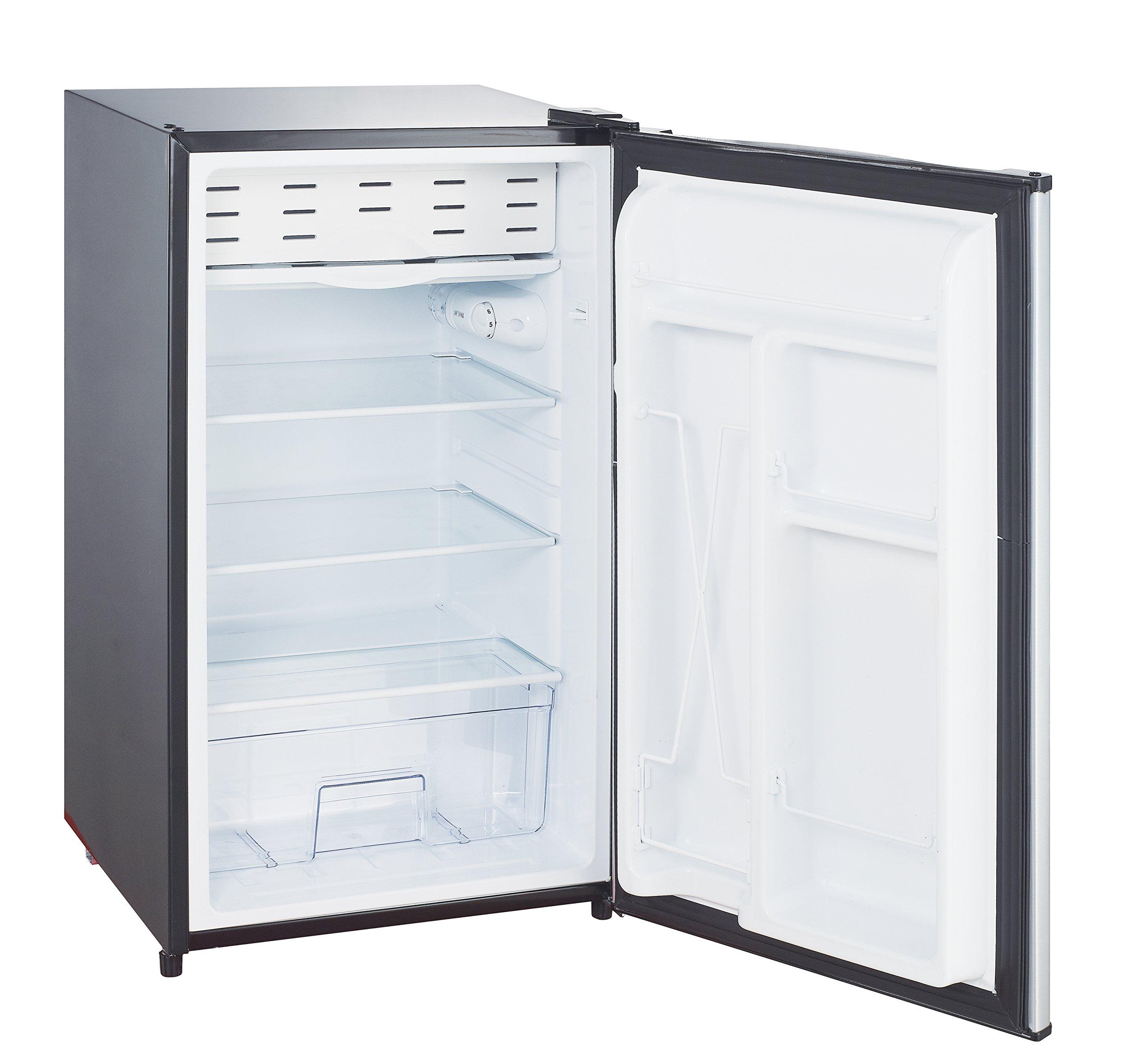 Impecca Compact Refrigerator and Freezer, Single Door Reversible Door Classic Refrigerator 3.3 Cubic Feet
