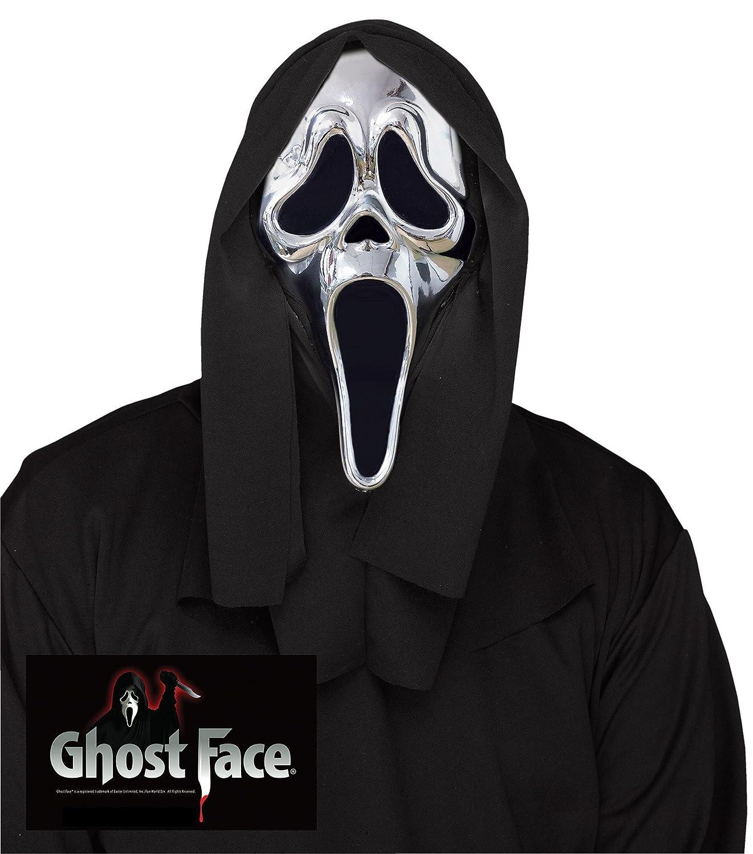 Amazon.com: Silver Ghost Face Mask - Scream 25th Anniversary ...