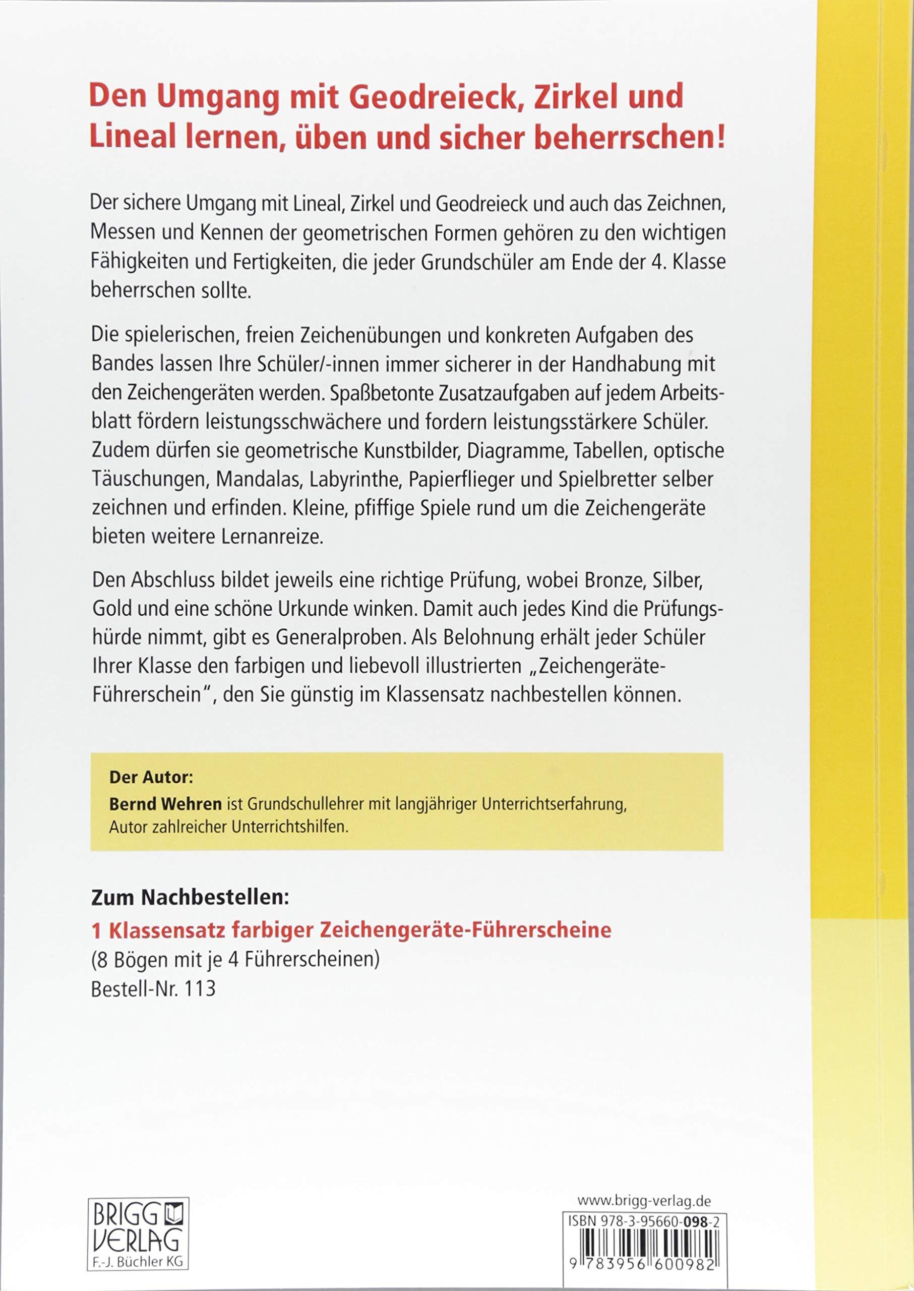 Der Zeichengeräte-Führerschein: Übungsmaterial zu Lineal, Geodreieck ...