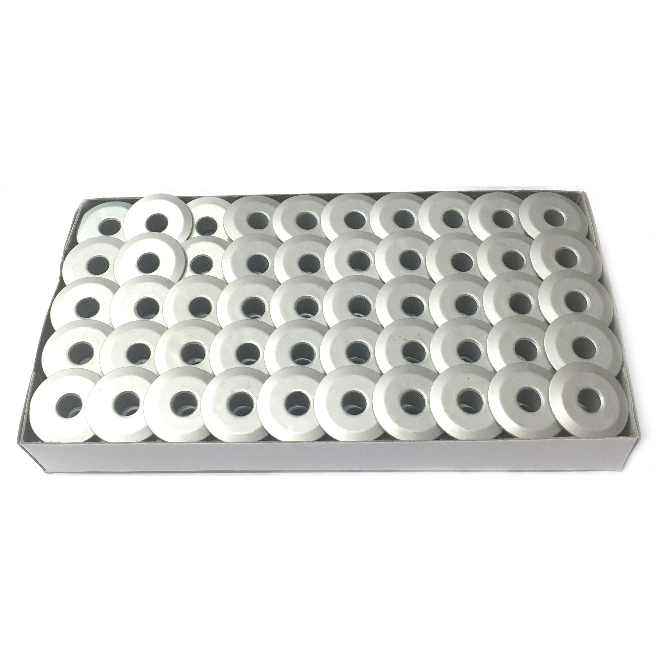 Cutex Brand 100 Aluminum M Size Bobbins for TIN Lizzie 18 Quilting Machines by Cutex Sewing Supplies