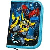 Scooli TFJK0443 - schooletui gevuld met Stabilo stiften, Transformers met Bumblebee en Optimus Prime motief
