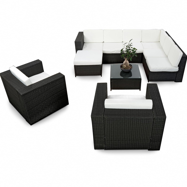 Amazon.de: XINRO XXXL 25tlg. Polyrattan Gartenmöbel Lounge Möbel ...