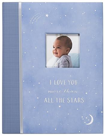 a7ea3407201 Amazon.com   C.R. Gibson Blue  All The Stars  Baby Boy Memory Book ...