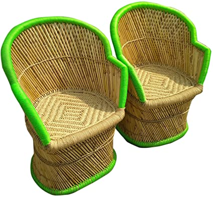 PatioStack Wooden Outdoor Sitting Furniture Chair Set for Garden/Terrace/Lawn/Indoor/Outdoor and Living Room [ 2 Chair, Size :18*18*36 ]