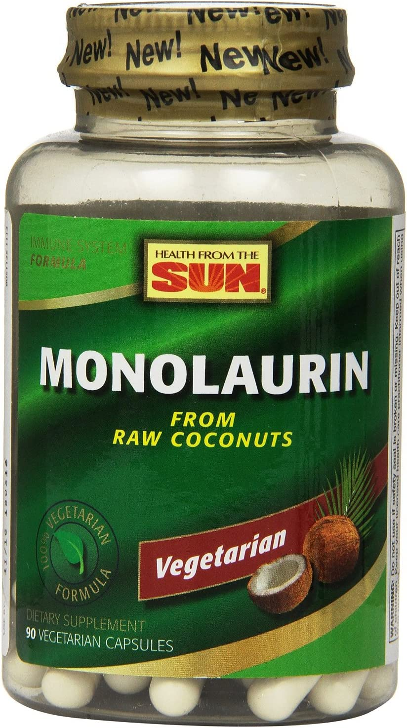 Monolaurin Health From The Sun 90 VCaps Pack of 3