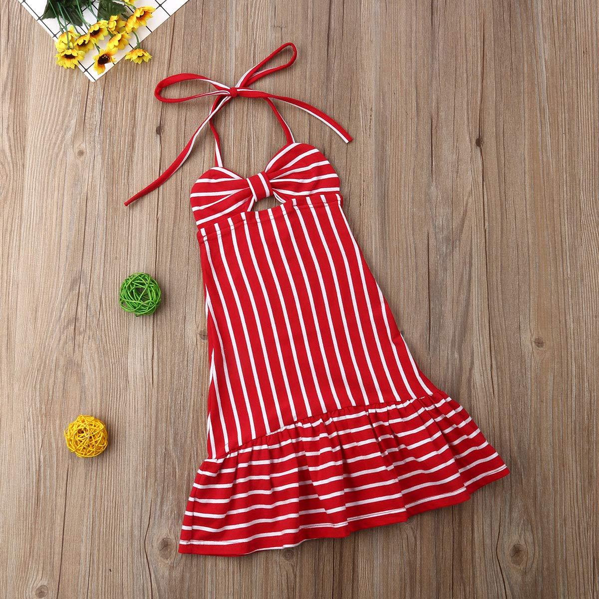 Baby Girls Halter Backless Dress Long Summer Dress for Party Birthday Beach