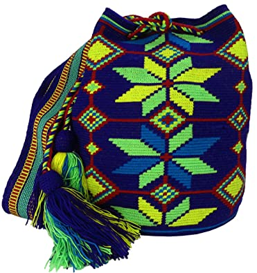 Amazon.com: Across The Puddle, Wayuu Bags and Hats Collection, Authentic Large Wayuu Mochila Bag MW-9051: Shoes