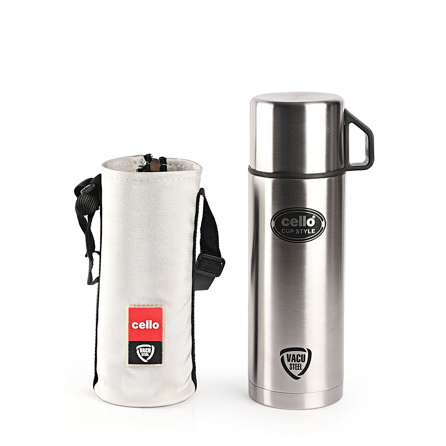 Cello Cup Style Stainless Steel Flask