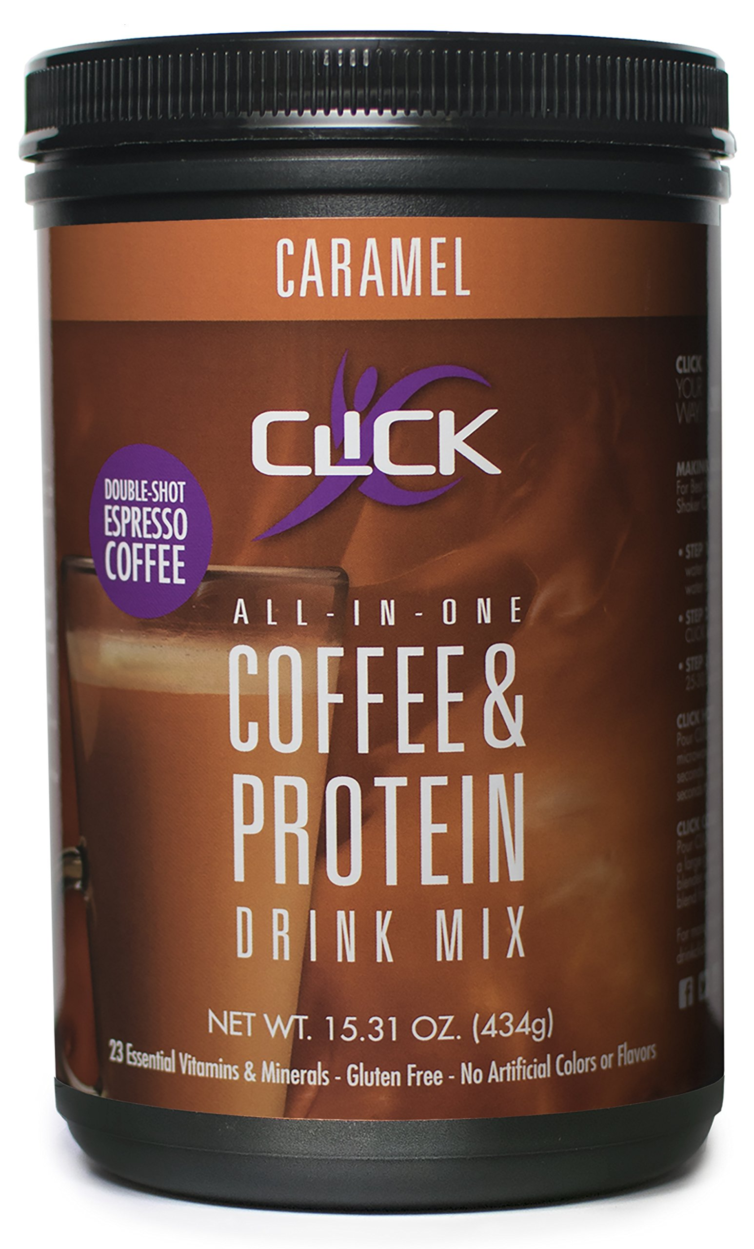 Amazon.com: CLICK Coffee Protein | Protein & Real Coffee, All-In-One| Meal Replacement