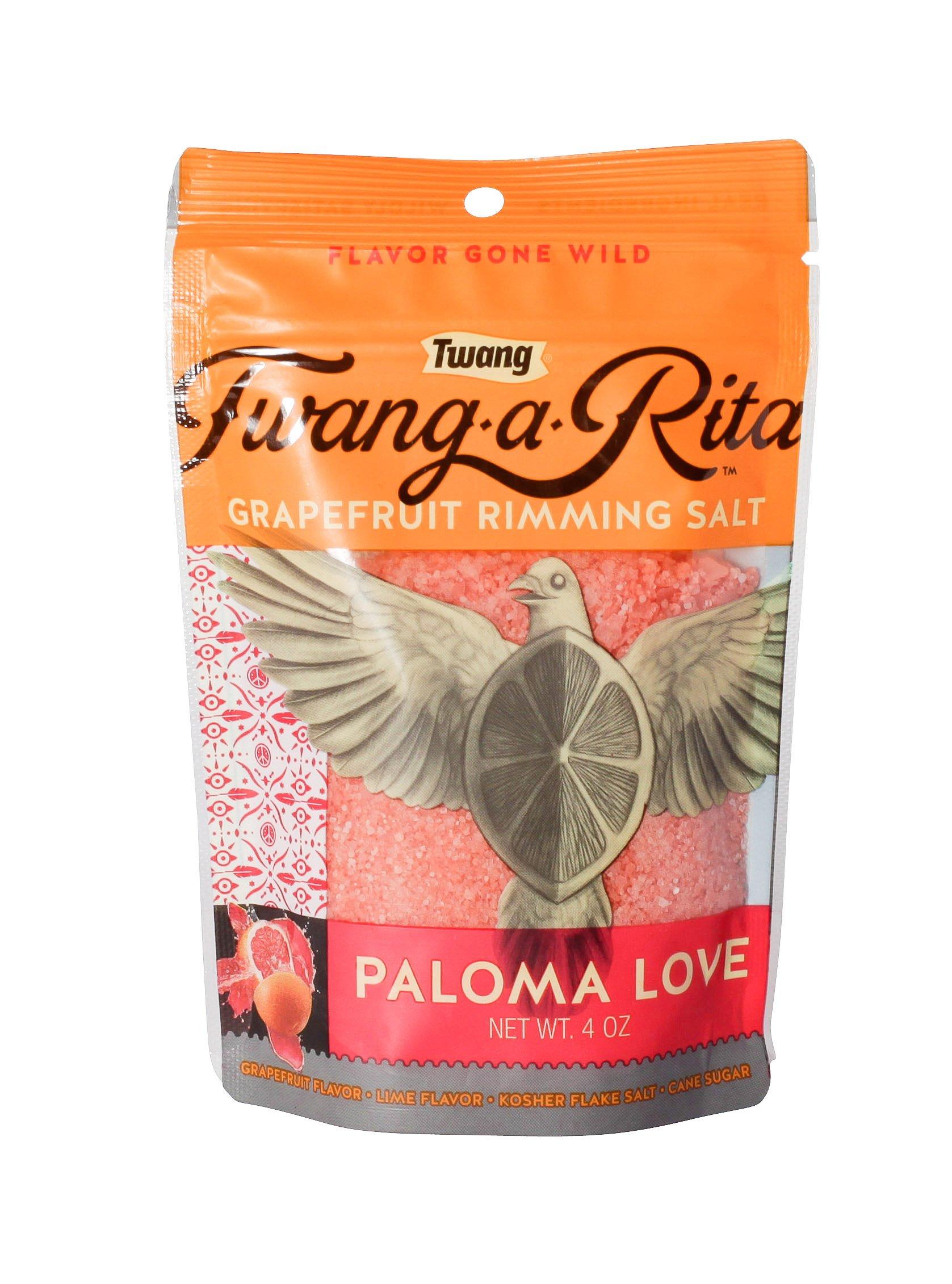 Twang-a-Rita Rimming Salt Varieties - 4 ounce pouch - (2 pack) (Paloma Love (Grapefruit)) by Twang (Image #1)