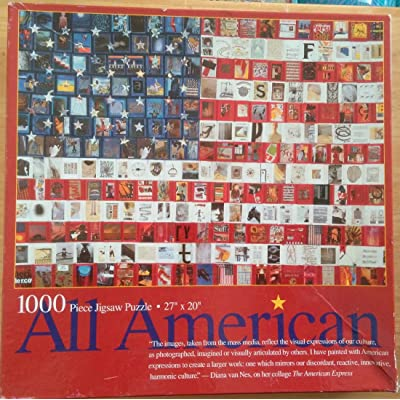 All American 1000 Piece Jigsaw Puzzle Mass Media Images Mosaic: Toys & Games [5Bkhe0706472]