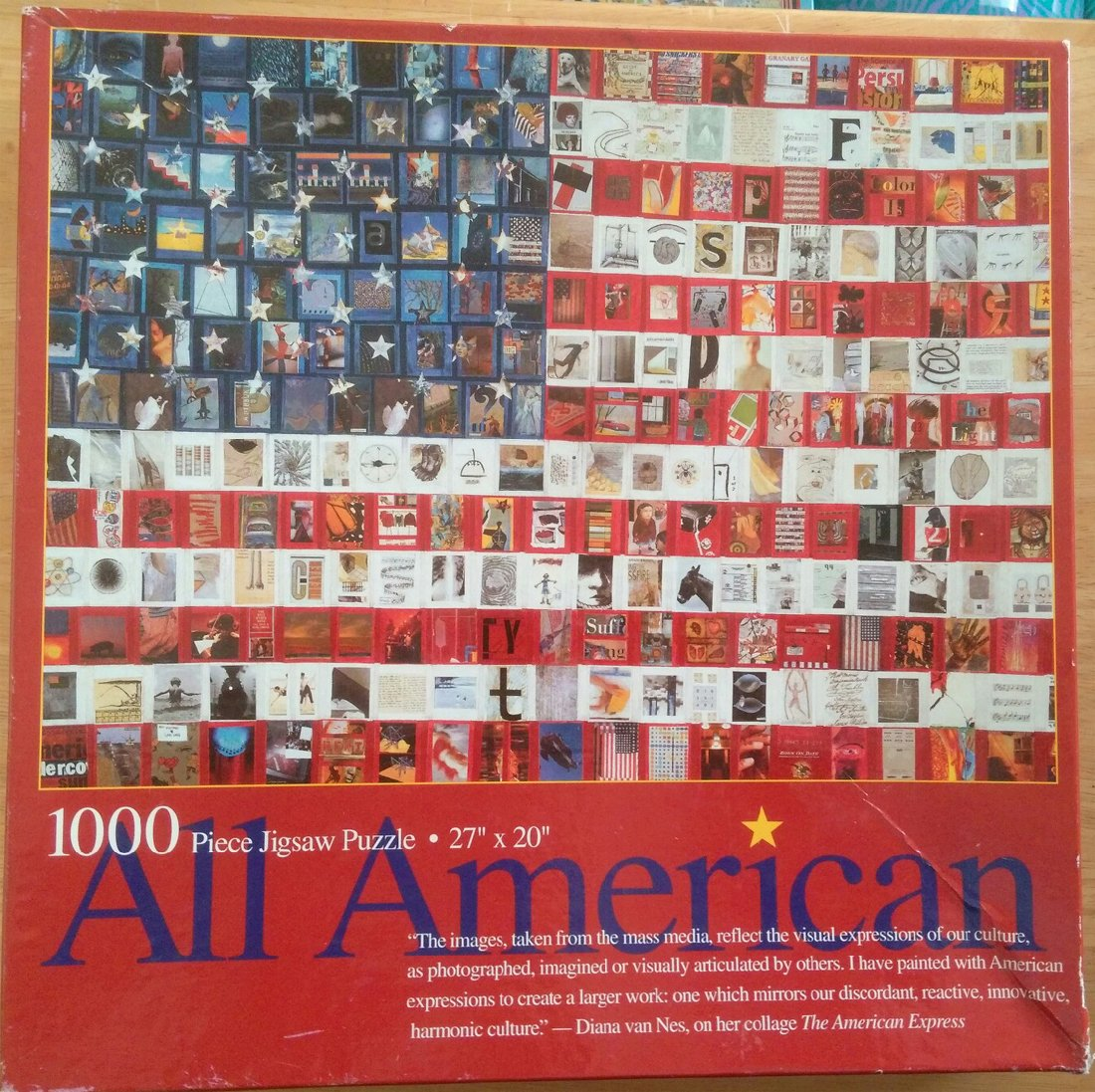 All American 1000 Piece Jigsaw Puzzle Mass Media Images Mosaic by Ceaco, Inc
