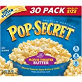Pop Secret Popcorn, Movie Theater Butter, 30 Count, Net Wt. 5.6Lb.(90oz)