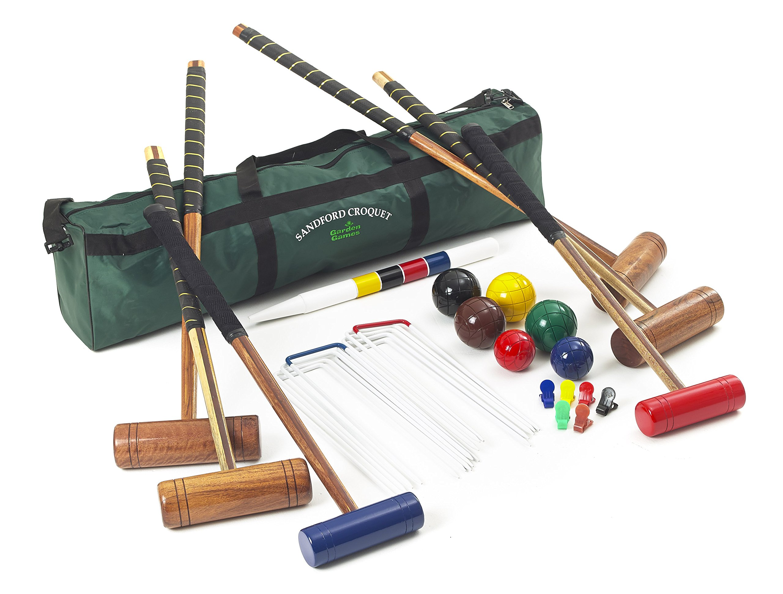 Sandford Family and Friends Croquet – 6 Player 9 Wicket Set by Garden Games