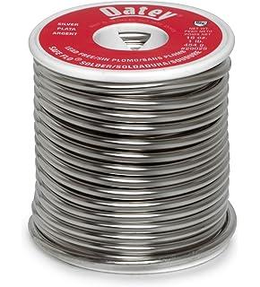 Oatey 29025 Safe-Flo Wire Solder, 1 Lb Bulk, Solid, Gray,