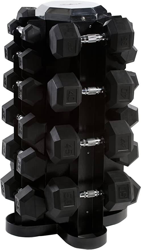 CAP Barbell Rubber Hex Dumbbell Set, 550-Pound: Amazon.es: Deportes y aire libre