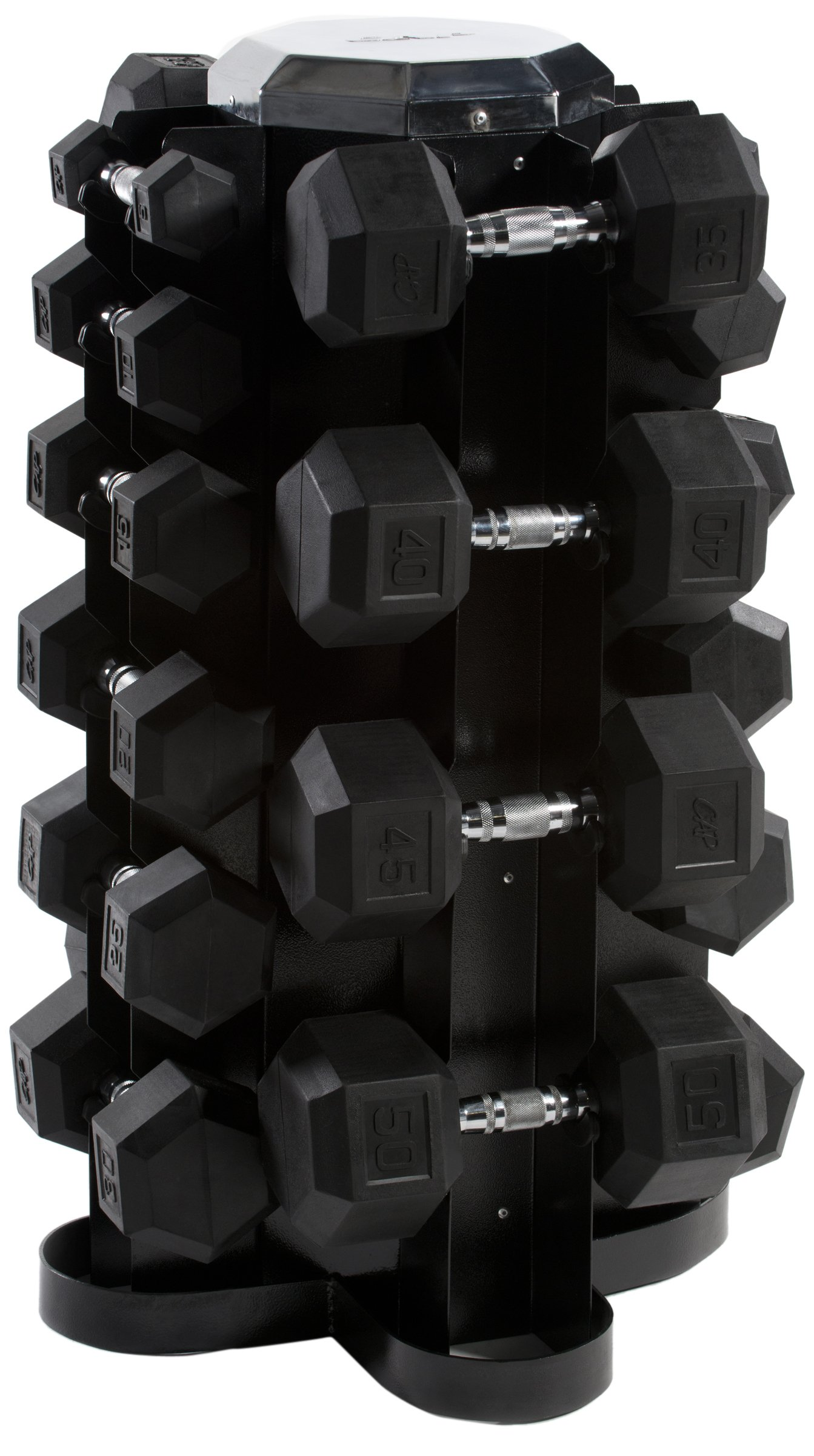 Cap Barbell Rubber Hex Dumbbell Set, 550-Pound by CAP Barbell