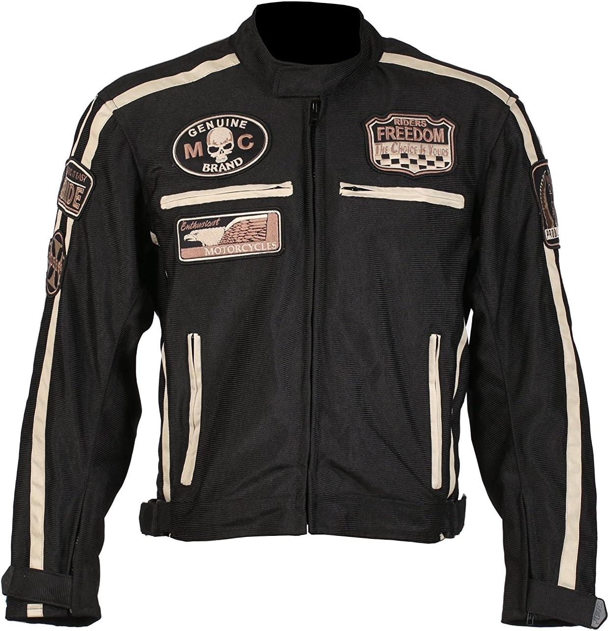 3XL BOS Motorrad Jacke sommer Gr schwarz