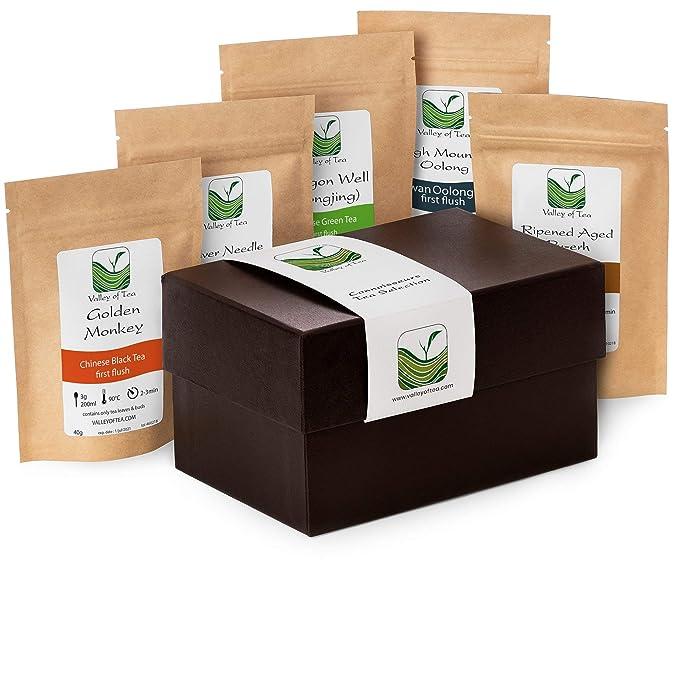 Regalos relacionados con el té - Selección de Regalo Tés Surtido Hojas Sueltas Cajas