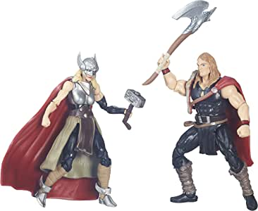 Marvel Legends Series Defenders of Asgard Marvel's Odinson and Thor (Female) Action Figures 3.75 Inches