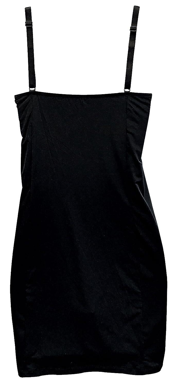 Womens Nude Black V Neck Camisole Vintage Retro Full Slip for Under Dresses