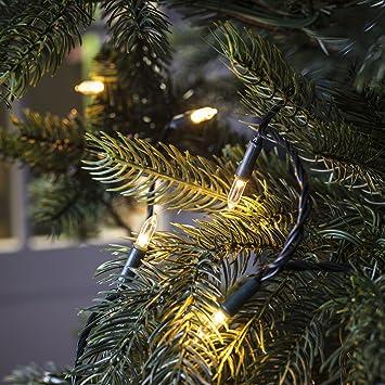 fe829ef53228b Lights4fun Guirlande Lumineuse Traditionnelle pour Sapin de Noël avec 100  LED Blanc Chaud