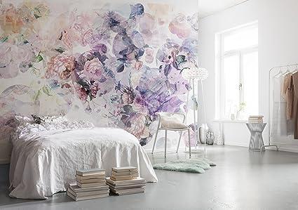 Komar 1 – xXL4 – 060 Komar Wish acuarela floral papel pintado – Mural de pared