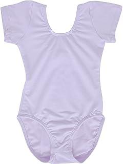 7fc8086abd15 Amazon.com  Dancina Flutter Short Sleeve Leotard for Girls  Clothing