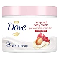 Dove Whipped Body Cream Dry Skin Moisturizer Pomegranate and Shea Butter, Nourishes...