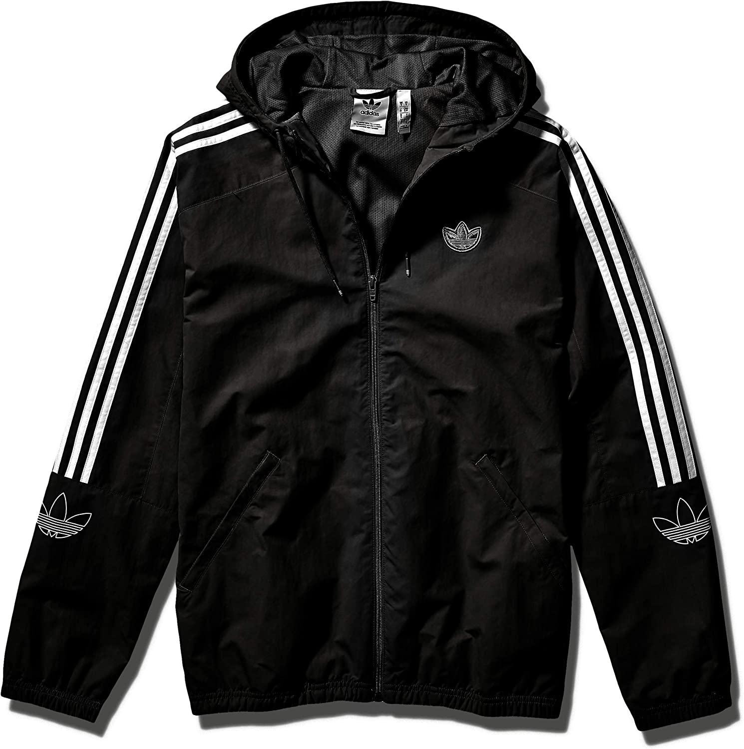 adidas Originals Men's Outline Trefoil Windbreaker Jacket