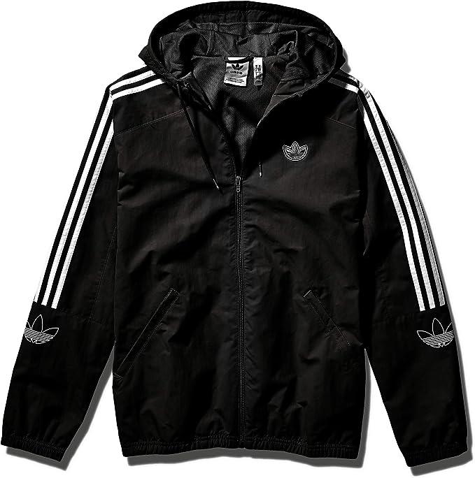 adidas Originals Men's Outline Trefoil Windbreaker Jacket