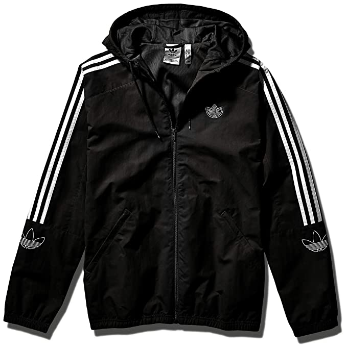 adidas Originals Mens Outline Trefoil Windbreaker Jacket at ...